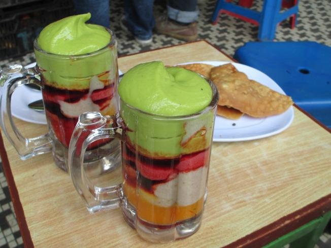 Juice with samboosas Mmmm