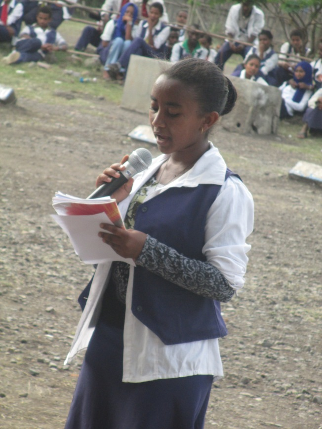 "One of the pupils from the local Preparatory School who was the chair at an English debate.  The motion was, ""The older generation are better than the new"". I thought she made a good speech!"